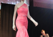 Model Runway Coral Gown1